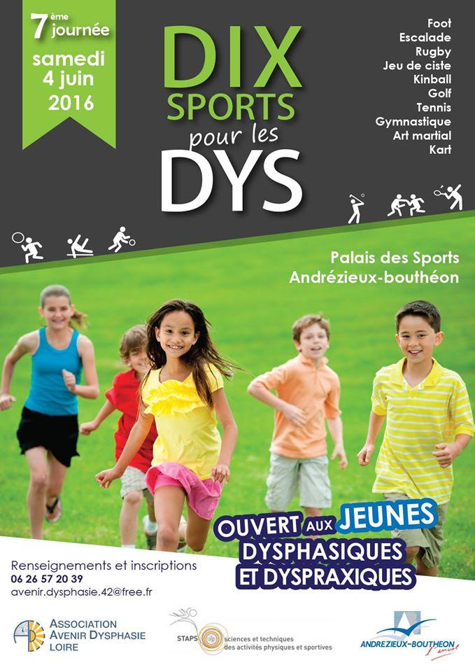AFFICHE DIX SPORTS DYS 2016