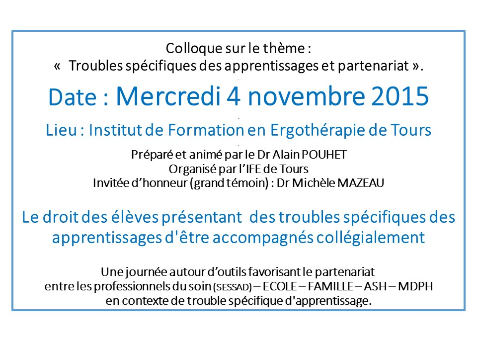Colloque TOURS 4 11