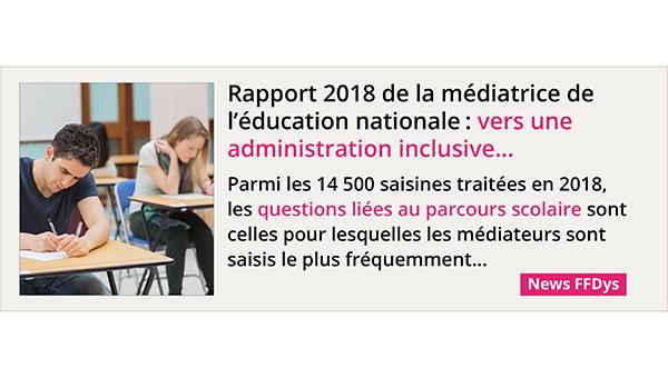 Rapport 2018 de la médiatrice de l'éducation nationale: vers une administration inclusive...