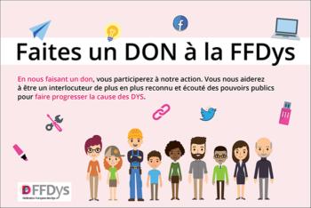 Manifestez votre intérêt pour la FFDys en faisant un don.
