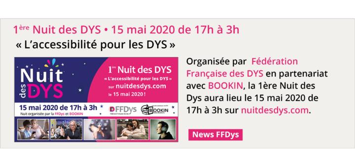 """""""L'accessibilité pour les DYS"""" Thème de la 1ère Nuit des DYS!"""