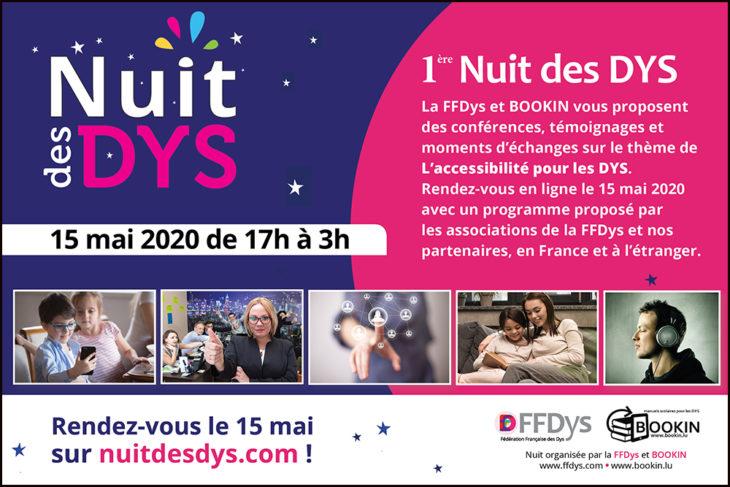 1ère Nuit des Dys - L'accessibilité pour les DYS - 15 mai 2020
