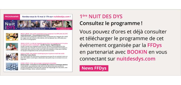 1ère Nuit des DYS: consultez le programme !