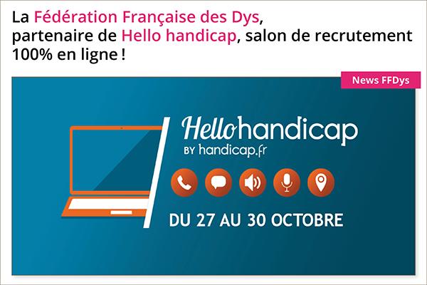 La Fédération Française des Dys, partenaire de Hello handicap, salon de recrutement 100% en ligne!