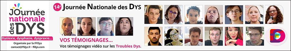 14e Journée Nationale des Dys – 10/10/2020 - Les témoignages