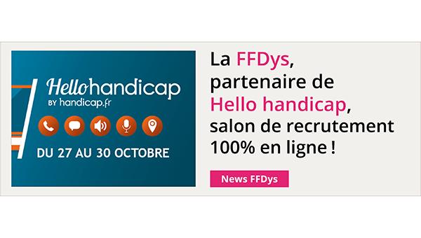 La FFDys partenaire de Hello handicap, salon de recrutement 100% en ligne!