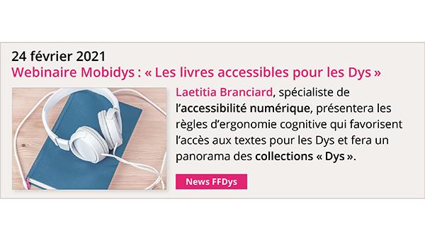 24 février 2021 - Webinaire Mobidys: Les livres accessibles pour les Dys